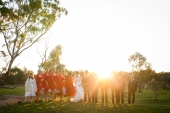 large-wedding-party-sunset